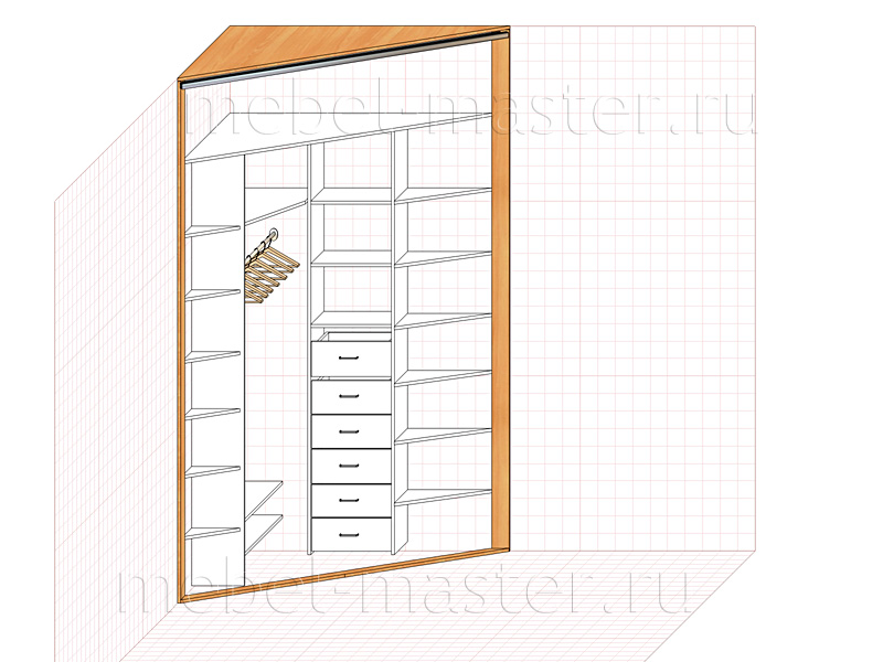 Трапециевидный угловой шкаф своими руками